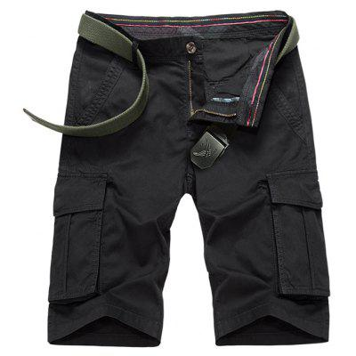 Buy BLACK Flap Pockets Bermuda Cargo Shorts for $34.43 in GearBest store
