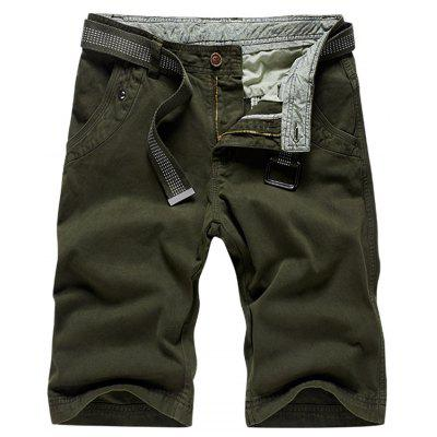 Buy ARMY GREEN 30 Zipper Fly Plain Bermuda Shorts for $34.65 in GearBest store