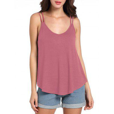 Loose Fit Cutout Cami Tank TopTank Tops<br>Loose Fit Cutout Cami Tank Top<br><br>Material: Polyester<br>Package Contents: 1 x Tank Top<br>Pattern Type: Solid<br>Shirt Length: Regular<br>Style: Casual<br>Weight: 0.2000kg