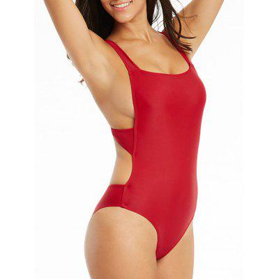 Backless Criss Cross One Piece Bademode