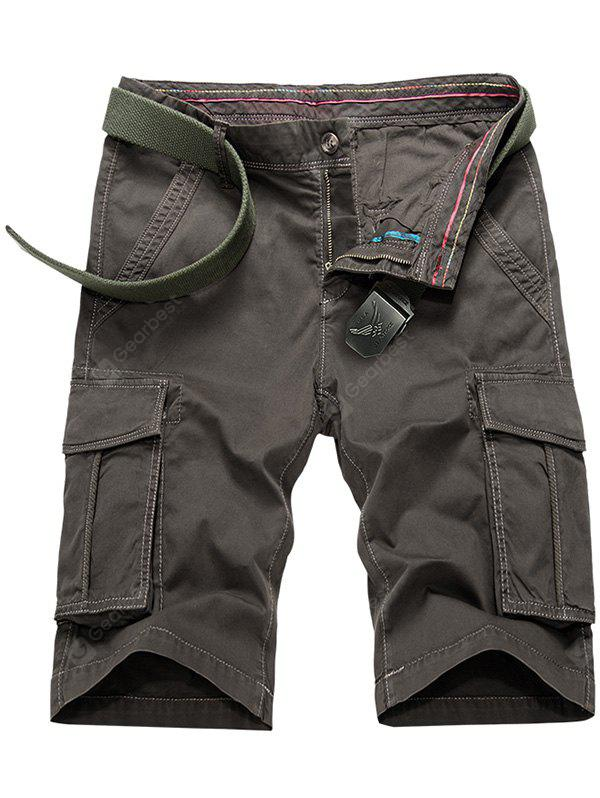 TAUPE Flap Pockets Bermuda Cargo Shorts