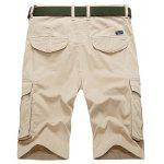 Flap Pockets Bermuda Cargo Shorts - CAQUI