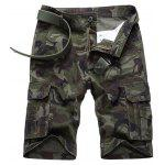 Flap Pocket Camo Cargo Shorts - ARMY GREEN