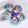 Floral Shaped EDC Spinning Metal Fidget Finger Gyro - COLORFUL