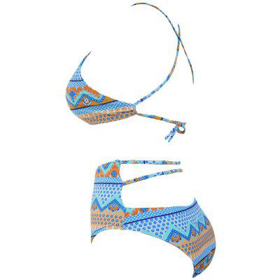 Keyhole High Waist Bikini SetLingerie &amp; Shapewear<br>Keyhole High Waist Bikini Set<br><br>Bra Style: Padded<br>Elasticity: Elastic<br>Gender: For Women<br>Material: Polyester<br>Neckline: Spaghetti Straps<br>Package Contents: 1 x Bra 1 x Briefs<br>Pattern Type: Print<br>Support Type: Wire Free<br>Swimwear Type: Bikini<br>Waist: High Waisted<br>Weight: 0.1800kg
