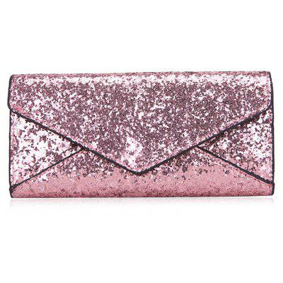 2 Pieces Sequins Embellish Glitter Envelope Wallet