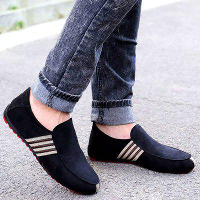 Slip On Color Block Casual Shoes