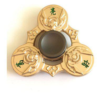Buy GOLDEN Zhuge Liang Tri Fidget Spinner Focus Toy Finger Relaxation Gift for $9.92 in GearBest store