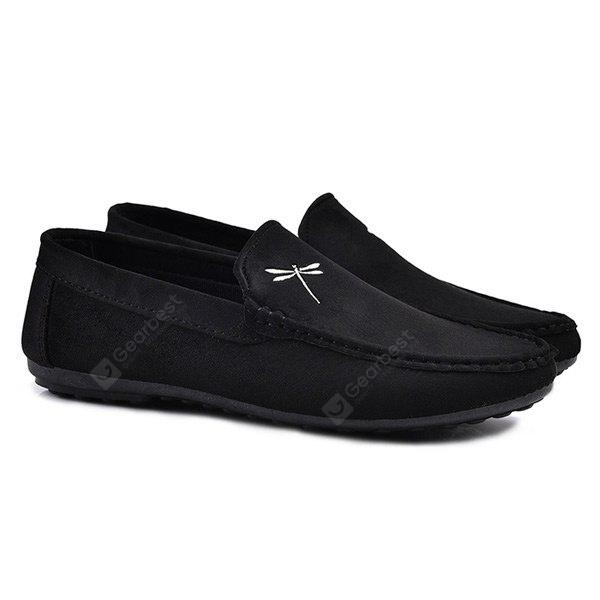 Suede Embroidery Casual Shoes