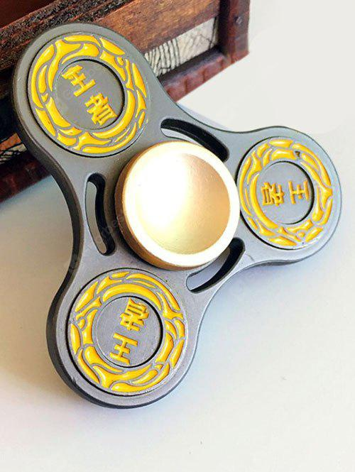 BLACK King Finger Gyro Hollow Out Stress Relief Toy Fidget Spinner