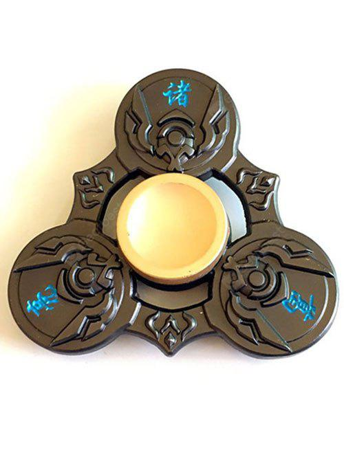 GREEN BROWN Zhuge Liang Tri Fidget Spinner Focus Toy Finger Relaxation Gift