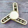 Stress Reliever Focus Toy 9 Beads Triangle Finger Gyro Spinner - GOLDEN
