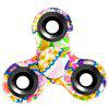 Stress Relief Toy Triangle Patterned Fidget Spinner - CREAM