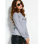 Text Graphic Pullover Sweatshirt - GRAY