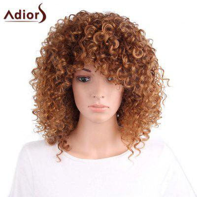 Adiors Long Side Part Shaggy Afro Curly Synthetic Wig