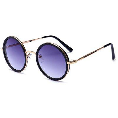 Buy GOLD FRAME+GREY LENS Polarized Retro Round Metal Frame Sunglasses for $6.98 in GearBest store
