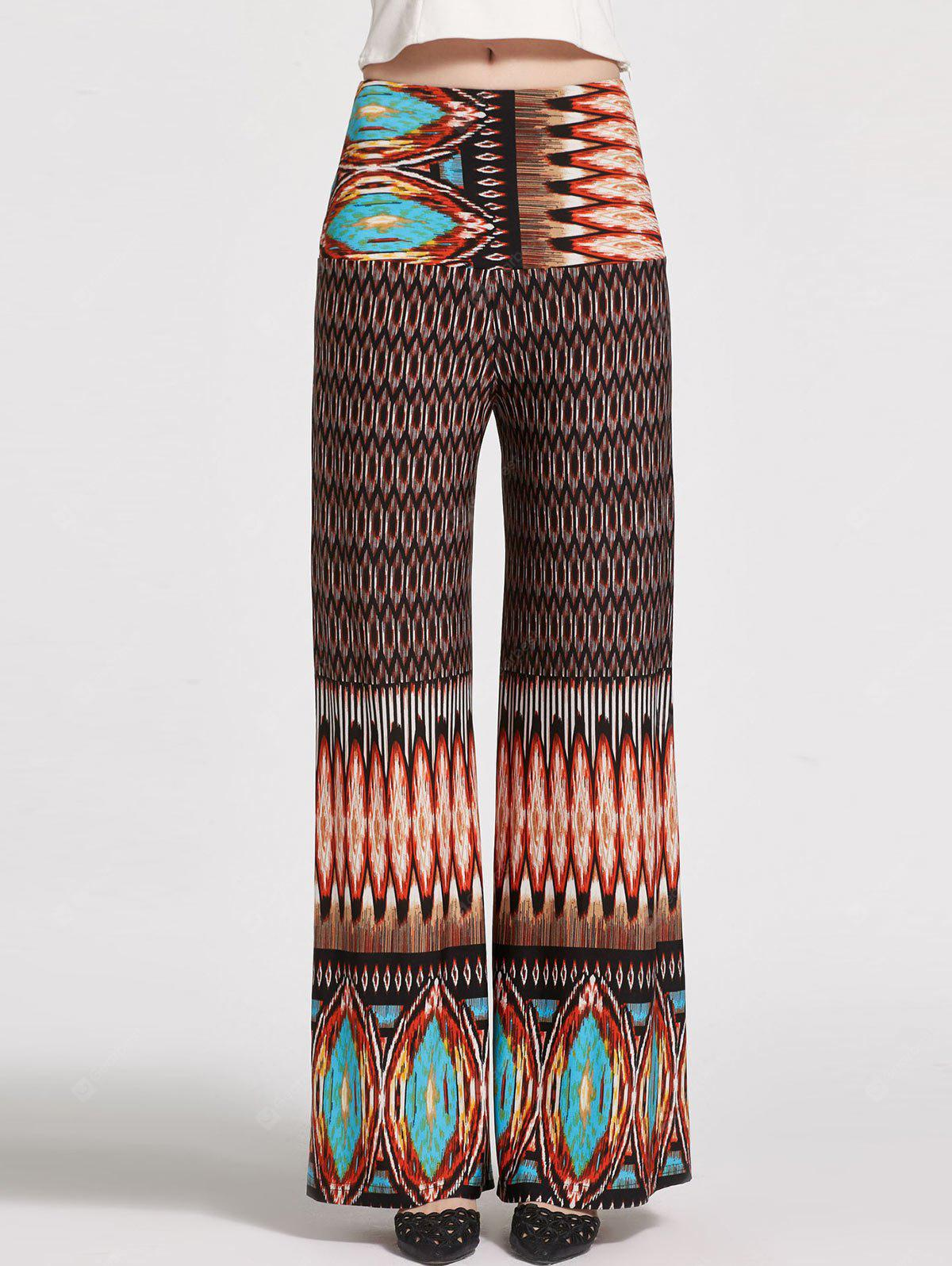 COLORMIX S Floral Printed High Waisted Palazzo Pants