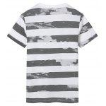 Slim Fit Striped T-Shirt - DEEP GRAY