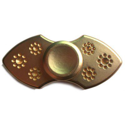 Flower Finger Gyro Novelty Stress Relief Toy Metal Fidget Spinner