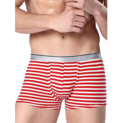 Buy RED 3XL Contour Pouch Stripe Boxer Briefs for $9.23 in GearBest store