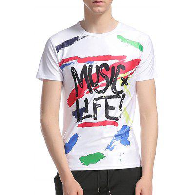 Buy COLORMIX Crew Neck Graphic Splatter Paint Print T-Shirt for $18.97 in GearBest store