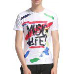 Crew Neck Graphic Splatter Paint Print T-Shirt - COLORMIX