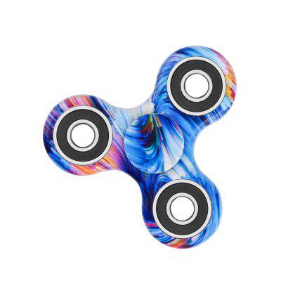 Star Sky Print Focus Toy Stress Relief Fidget Spinner - BLUE
