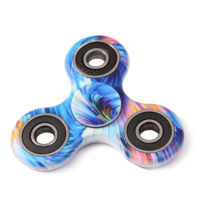 Star Sky Print Focus Toy Stress Relief Fidget Spinner tri fidget hand spinner triangle metal finger focus toy adhd autism kids adult toys finger spinner toys gags