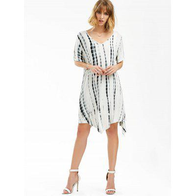 V Neck Tie Dye Asymmetrical DressWomens Dresses<br>V Neck Tie Dye Asymmetrical Dress<br><br>Dresses Length: Mini<br>Material: Polyester<br>Neckline: V-Neck<br>Occasion: Causal<br>Package Contents: 1 x Dress<br>Pattern Type: Tie Dye<br>Season: Spring, Summer<br>Silhouette: Asymmetrical<br>Sleeve Length: Short Sleeves<br>Style: Casual<br>Weight: 0.4000kg<br>With Belt: No