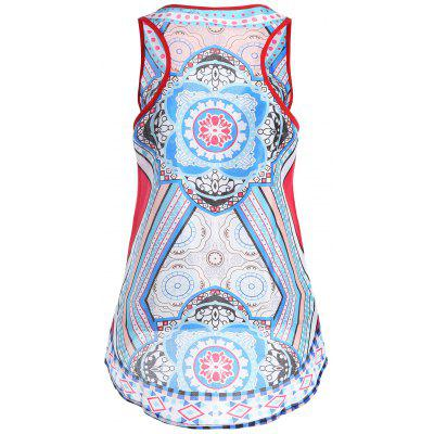 High Low Racerback Tribal Print Tank TopTank Tops<br>High Low Racerback Tribal Print Tank Top<br><br>Material: Polyester<br>Package Contents: 1 x Tank Top<br>Pattern Type: Print<br>Shirt Length: Long<br>Style: Fashion<br>Weight: 0.2200kg