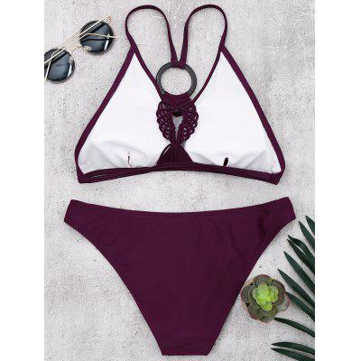 Braided Padded Wireless Bikini SetLingerie &amp; Shapewear<br>Braided Padded Wireless Bikini Set<br><br>Bra Style: Padded<br>Elasticity: Micro-elastic<br>Gender: For Women<br>Material: Polyester, Spandex<br>Neckline: Spaghetti Straps<br>Package Contents: 1 x Bra  1 x Panties<br>Pattern Type: Solid Color<br>Support Type: Wire Free<br>Swimwear Type: Bikini<br>Waist: Natural<br>Weight: 0.1800kg