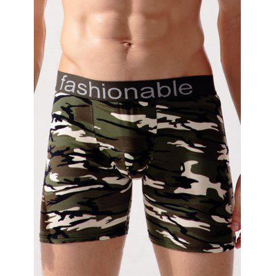 Camouflage Print Swimming Trunks