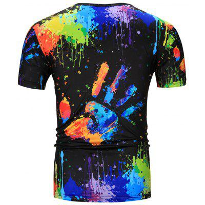 Crew Neck Colorful Splatter Paint Handprint Print T-ShirtMens Short Sleeve Tees<br>Crew Neck Colorful Splatter Paint Handprint Print T-Shirt<br><br>Collar: Crew Neck<br>Material: Cotton, Polyester<br>Package Contents: 1 x T-Shirt<br>Pattern Type: Hand-painted<br>Sleeve Length: Short<br>Style: Fashion<br>Weight: 0.2100kg