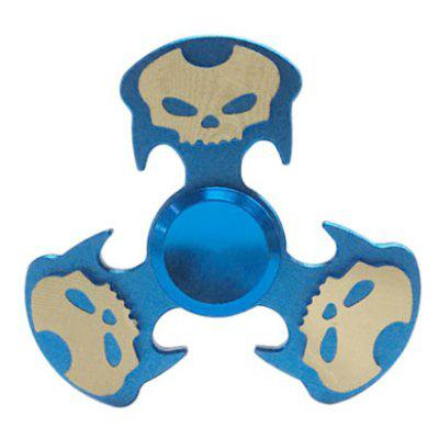 Cool Skull Focus Toy Metal Hand Fidget Spinner