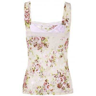 Floral Lace Tank TopTank Tops<br>Floral Lace Tank Top<br><br>Material: Nylon, Spandex<br>Package Contents: 1 x Tank Top<br>Pattern Type: Floral<br>Shirt Length: Short<br>Style: Casual<br>Weight: 0.3000kg