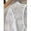 Openwork See-Through Bodysuit Cover Up - WHITE