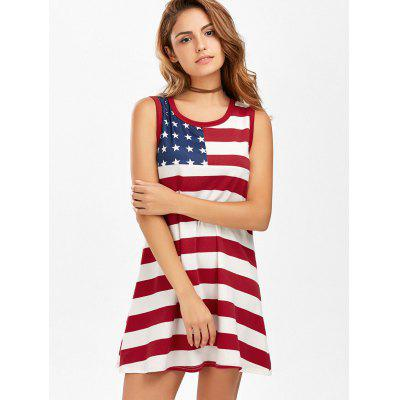 American Flag Patriotic Mini Tank DressWomens Dresses<br>American Flag Patriotic Mini Tank Dress<br><br>Dress Type: Sundress,Tank Dress,Tee Dress,Tunic Dress<br>Dresses Length: Mini<br>Elasticity: Elastic<br>Material: Cotton, Polyester<br>Neckline: Scoop Neck<br>Package Contents: 1 x Dress<br>Pattern Type: American Flag<br>Season: Summer<br>Silhouette: Trapeze<br>Sleeve Length: Sleeveless<br>Style: Brief<br>Weight: 0.2700kg<br>With Belt: No
