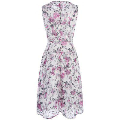 Chiffon Tea Length Junior Casual Dress with Tiny Floral PrintWomens Dresses<br>Chiffon Tea Length Junior Casual Dress with Tiny Floral Print<br><br>Dresses Length: Mid-Calf<br>Fabric Type: Chiffon<br>Material: Polyester<br>Neckline: Round Collar<br>Package Contents: 1 x Dress<br>Pattern Type: Floral<br>Placement Print: No<br>Season: Summer<br>Silhouette: A-Line<br>Sleeve Length: Sleeveless<br>Style: Casual<br>Weight: 0.2700kg<br>With Belt: No