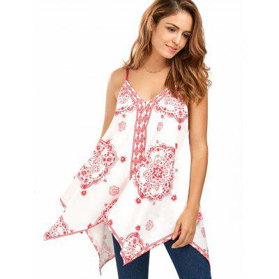 Printed Handerchief Cami TopTank Tops<br>Printed Handerchief Cami Top<br><br>Elasticity: Elastic<br>Material: Polyester, Spandex<br>Package Contents: 1 x Camis<br>Pattern Type: Print<br>Shirt Length: Regular<br>Style: Fashion<br>Weight: 0.3200kg