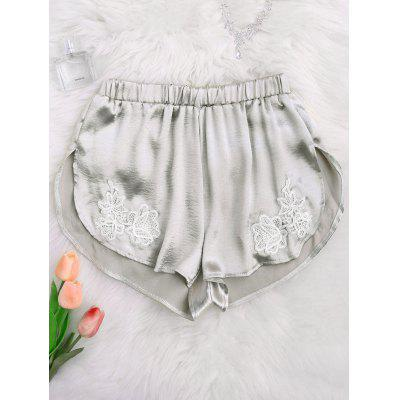 Satin Applique Dolphin Sleep Shorts