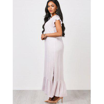 Casual Ruffles Straight Maxi DressMaxi Dresses<br>Casual Ruffles Straight Maxi Dress<br><br>Dresses Length: Ankle-Length<br>Embellishment: Ruffles<br>Material: Cotton, Polyester<br>Neckline: V-Neck<br>Occasion: Casual, Going Out<br>Package Contents: 1 x Dress<br>Pattern Type: Solid<br>Season: Summer<br>Sleeve Length: Short Sleeves<br>Weight: 0.3250kg<br>With Belt: No