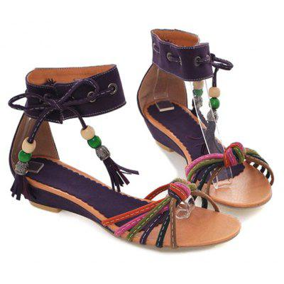 acdd46ded61 Multicolor Tie Up Tassels Sandals -  19.93 Free Shipping