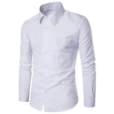 Turn Down Collar Slim Casual Shirt
