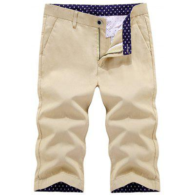 Button Pocket Zip Fly Casual Shorts