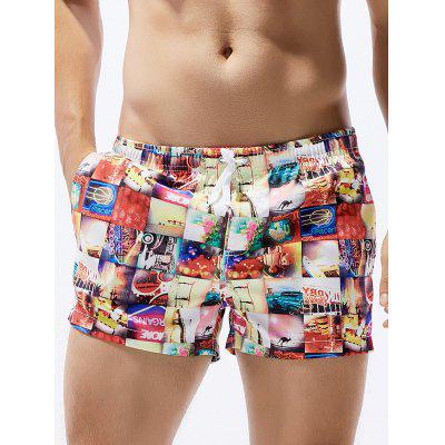 Drawstring Straight Leg Board Shorts