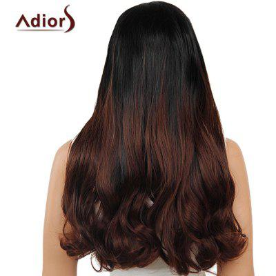 Adiors Dyeable Perm Long Middle Part Straight 180% Lace Front Synthetic Wig