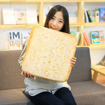 Sliced Toast Velboa Sofa Cushion Square Throw Pillow