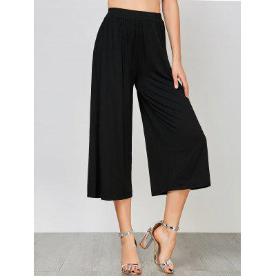 Buy BLACK M High Waisted Ninth Palazzo Pants for $24.63 in GearBest store