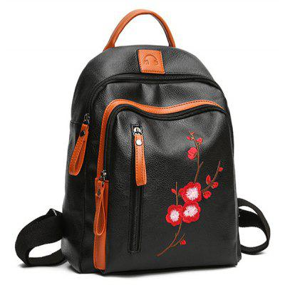 Wintersweet Embroidered BackpackWintersweet Embroidered Backpack<br><br>Closure Type: Zipper<br>Embellishment: Embroidery<br>Gender: For Women<br>Handbag Size: Medium(30-50cm)<br>Handbag Type: Backpack<br>Interior: Interior Zipper Pocket<br>Main Material: PU<br>Occasion: Versatile<br>Package Contents: 1 x Backpack<br>Pattern Type: Floral<br>Size(CM)(L*W*H): 25*15*30<br>Style: Casual<br>Weight: 1.2000kg