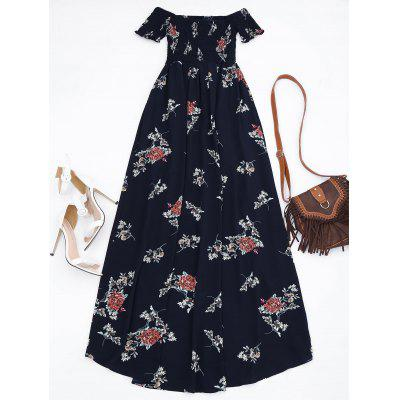 Floral Shirred Waist Asymmetric Maxi DressMaxi Dresses<br>Floral Shirred Waist Asymmetric Maxi Dress<br><br>Dresses Length: Ankle-Length<br>Material: Cotton Blend<br>Neckline: Off The Shoulder<br>Package Contents: 1 x Dress<br>Pattern Type: Floral<br>Season: Summer, Fall, Spring<br>Sleeve Length: Short Sleeves<br>Style: A Line<br>Weight: 0.3700kg<br>With Belt: No